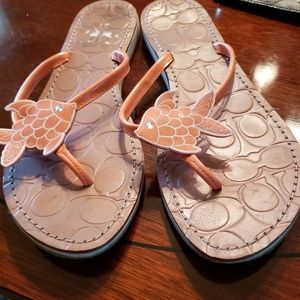 Coach thong wedge sandals
